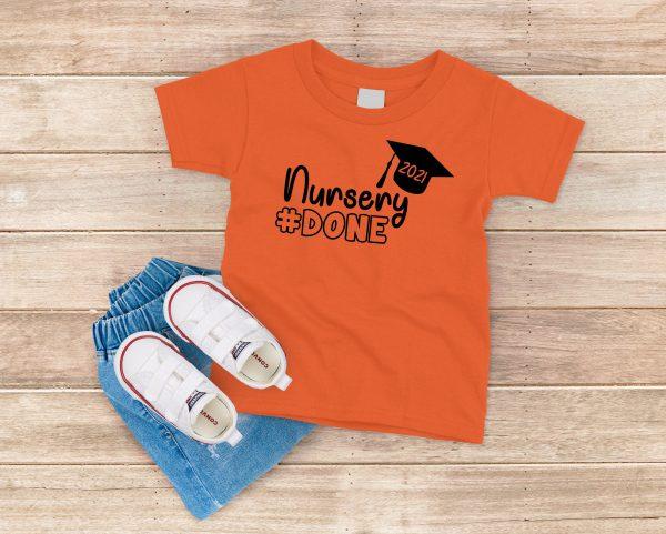 Nursery Done T Shirt Orange