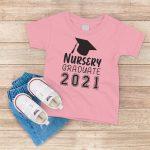Nursery Graduate 2021 Light Pink T-Shirt