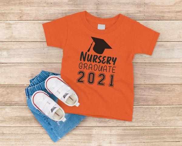 Nursery Graduate 2021 Orange T-Shirt