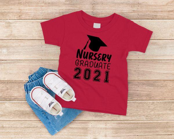 Nursery Graduate 2021 Red T-Shirt
