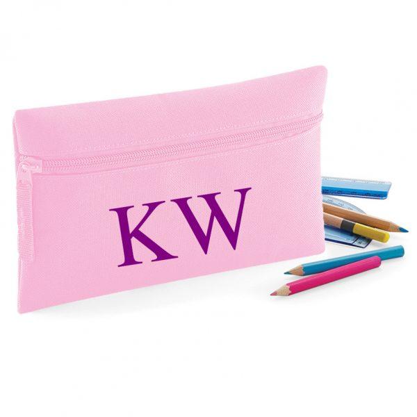 Initial Letters Design Pencil Case