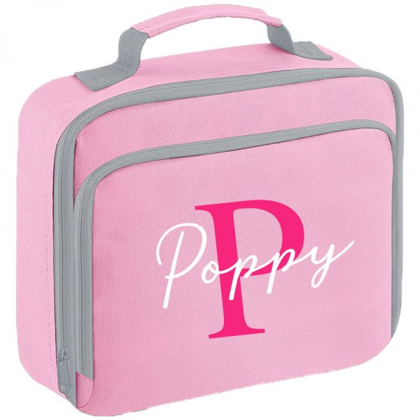 Initial Letters and Script Name Lunch Box