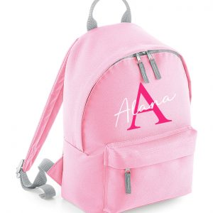 Initial Letter and Script Name Backpack