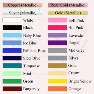 Gloss Vinyl Colour Chart