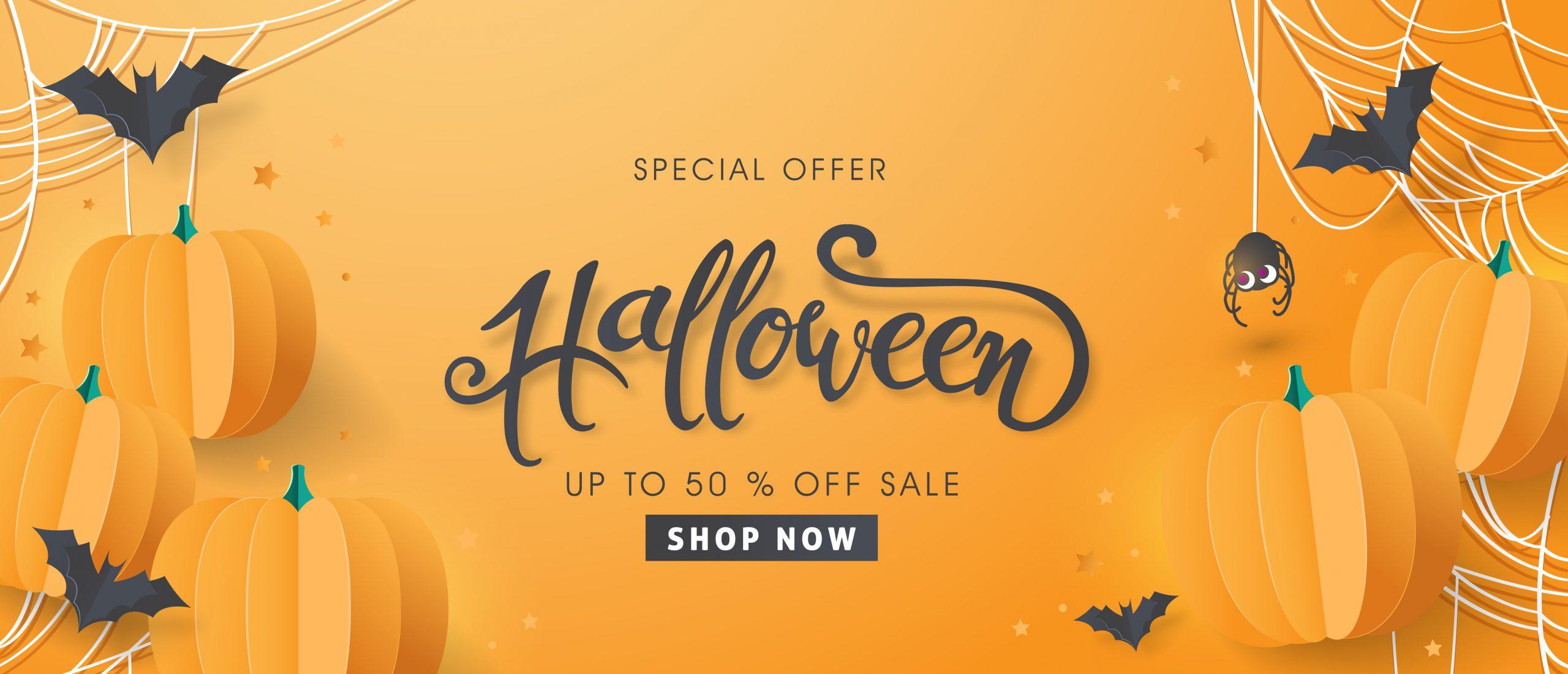 Happy Halloween sale banner