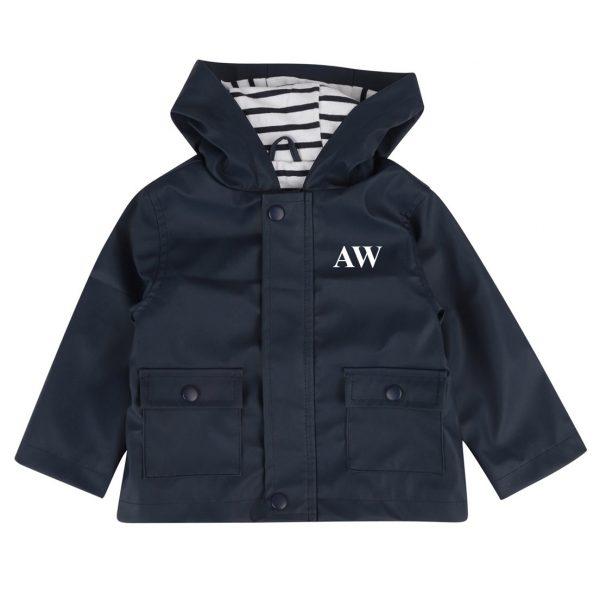 Personalised Baby & Toddler Raincoat - Navy