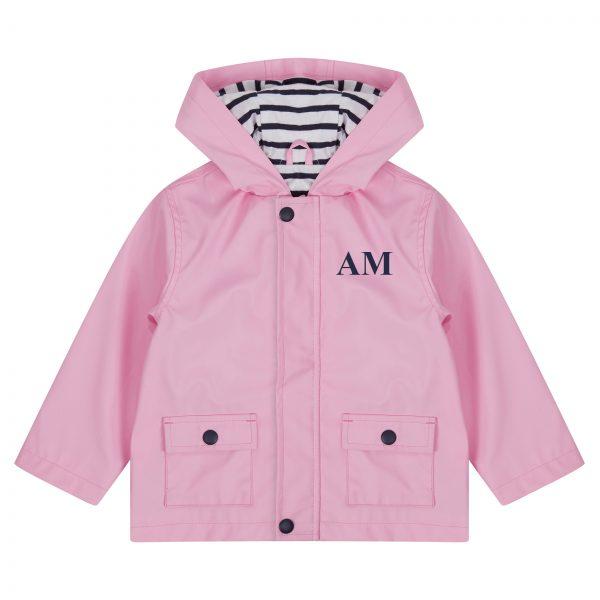 Personalised Baby & Toddler Raincoat - Pink