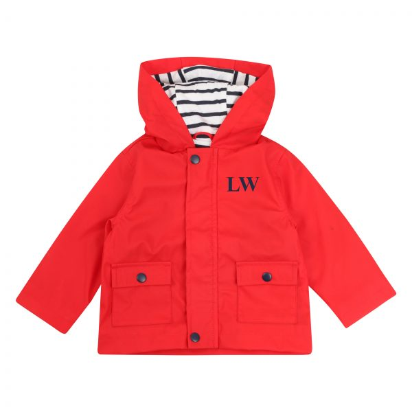 Personalised Baby & Toddler Raincoat - Red