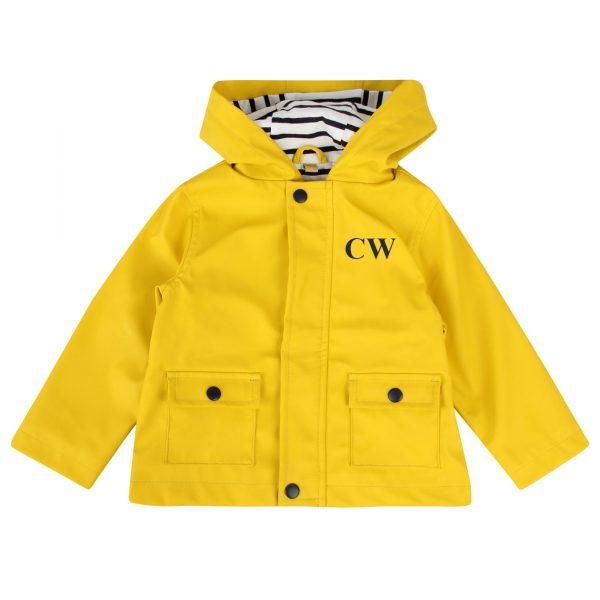 Personalised Baby & Toddler Raincoat - Yellow