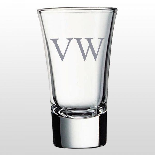 Personalised Shot Glass - Initials