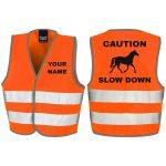 Fluorescent Orange Caution Slow Down – RS200B