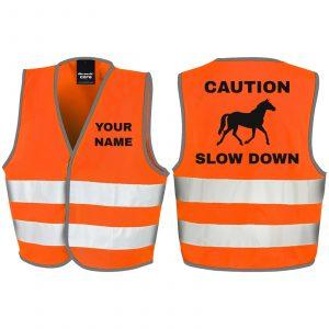 Fluorescent Orange Caution Slow Down - RS200B