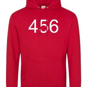Personalised Squid Game Number Hoodie - Red