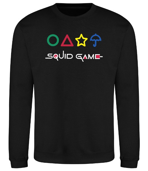 Squid Game With Shapes Sweatshirt - Black