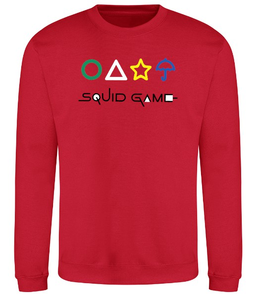 Squid Game With Shapes Sweatshirt - Red