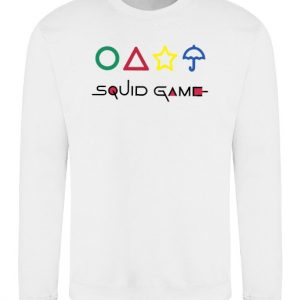 Squid Game With Shapes Sweatshirt - White