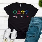 Squid Game with Shapes Tee – Black