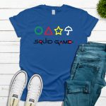 Squid Game with Shapes Tee – Blue