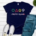 Squid Game with Shapes Tee – Navy