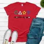 Squid Game with Shapes Tee – Red