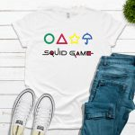 Squid Game with Shapes Tee – White