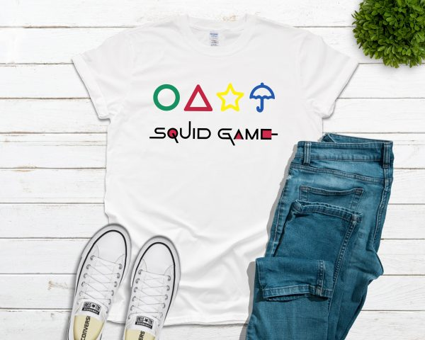 Squid Game with Shapes Tee - White