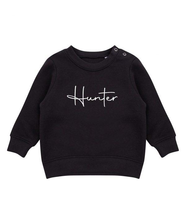 Toddler Personalised Signature Sweatshirt - Black