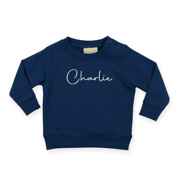 Toddler Personalised Signature Sweatshirt - Navy